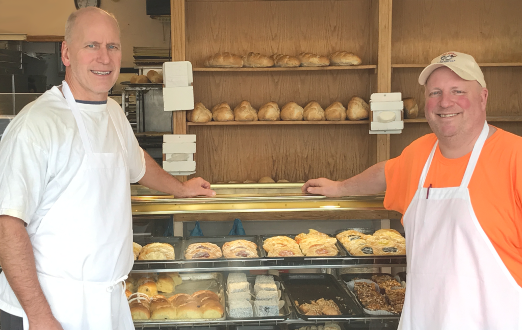 Breads and Beyond Bakery Owners, Bob Uhlir & Larry Louis at the bakery