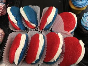 Red, White and blue moon pies