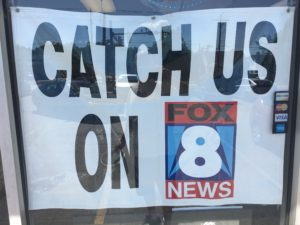 Poster to watch us on Fox8 New Day Cleveland