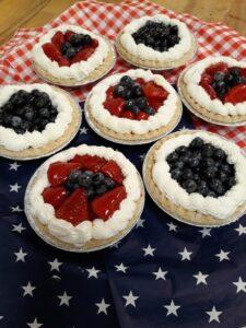 Strawberry & Blueberry Fruit Tarts